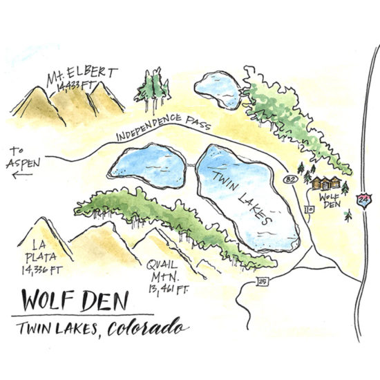 Map Twin Lakes